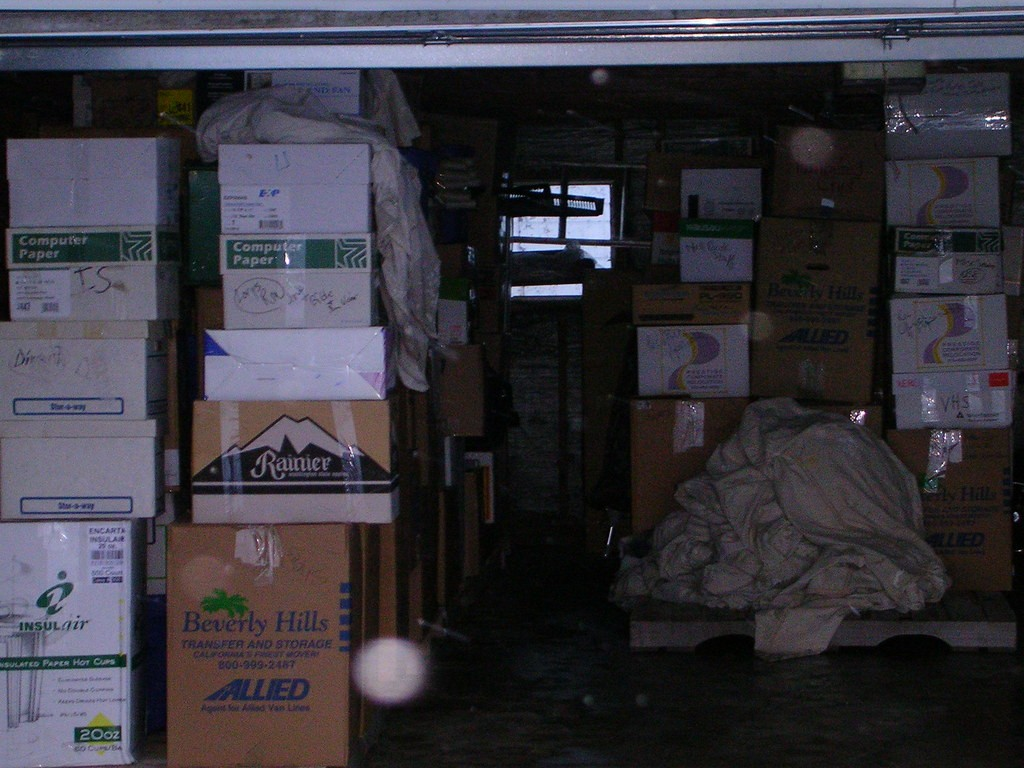 Moving Me | Packing garage