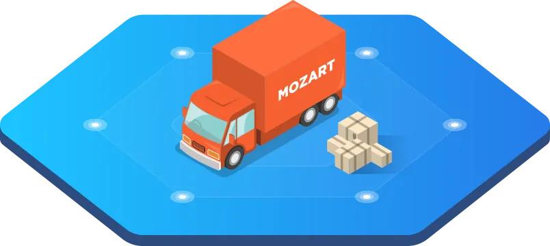 Mozart Movers logo