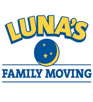 Luna's Family Moving Company logo