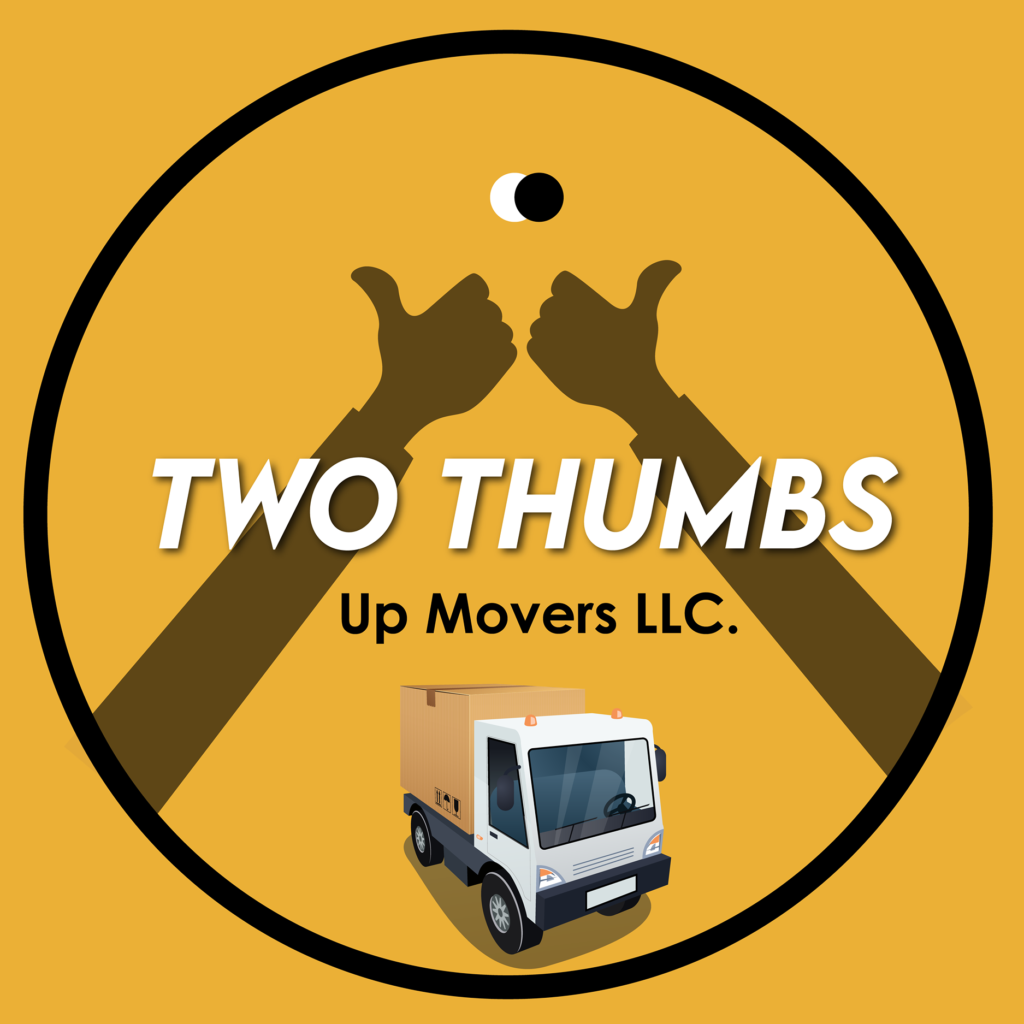 Two Thumbs Up Movers Moving Company logo